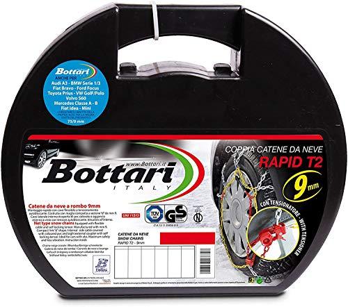 """Bottari 18817 """"Rapid T2"""", Catene neve auto 9 mm, Misura 070, Omologate TUV e GS Onorm"""