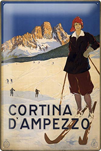 Rebecca Simpson 8x12 Tin Sign World Tour Cortina D' Ampezzo ski Resort Metal Plate