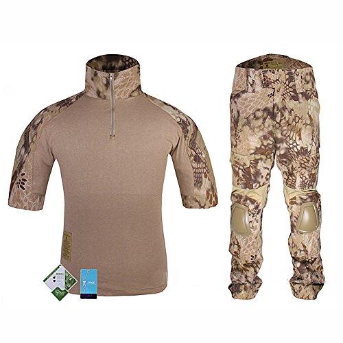 ATAIRSOFT WorldShopping4U Tactique Militaire personnalisé Combat Shorts Armée Uniforme Shirt & Pants Suit Set (HLD, M)