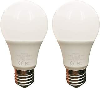 2 Pack Dusk to Dawn 5W LED Light Bulb 40 Watt Equivalent Soft White 3000K Light Sensor Bulb Sensor Light Security Bulb with Photosensor Detection E26(5W-Warm/Soft White)
