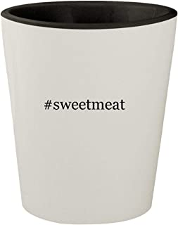 #sweetmeat - White Outer & Black Inner Hashtag Ceramic 1.5oz Shot Glass