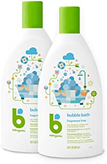 Babyganics Bubble Bath, Fragrance Free, 20oz, 2 Pack
