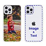 MXCUSTOM Custom Apple iPhone 12 Pro Max Case, Customized Personalized with Photo Image Text Picture Design Make Your Own Phone Cases Covers [Clear Soft TPU Bumper + Hard PC Back] (CHT-CR-P1)