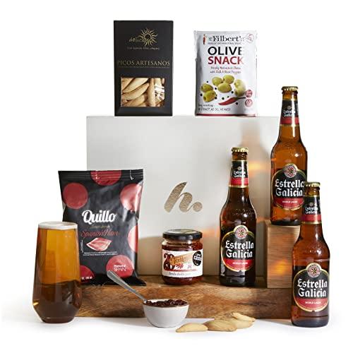 Spanish Food & Beer Hamper - Beer Hampers and Lager Gifts - Spanish Estrella Galicia Lager Gift Hamper