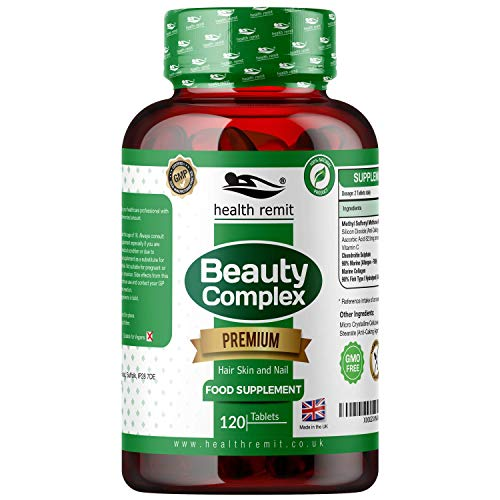 Health Remit's Beauty Complex - Advanced MSM Formula – with Hydrolysed Type 1 Marine Collagen for Healthy Skin, Hair and Nail - 120 Tablets