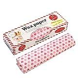 WISETOP Papel encerado, resistente al agua,para comidas campestres, papel a prueba de grasa, resistente al agua, para restaurantes, barbacoas, picnics, fiestas, comidas para niños, al aire libre