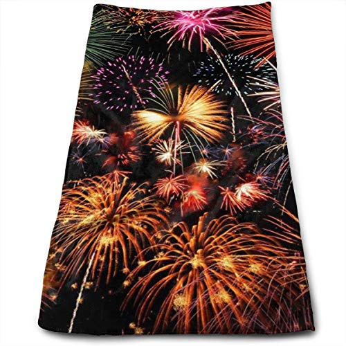 Wonderful FireworkHand Towel Toallas de Lujo Ultra Suaves para baño, Hotel, Gimnasio y SPA 30x70cm
