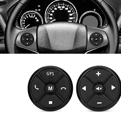 VIGORFLYRUN PARTS LTD Controlador Universal del Volante del Automóvil 4Key Music DVD inalámbrico Navegación GPS Volante 2 DIN Radio Botones de Control Remoto