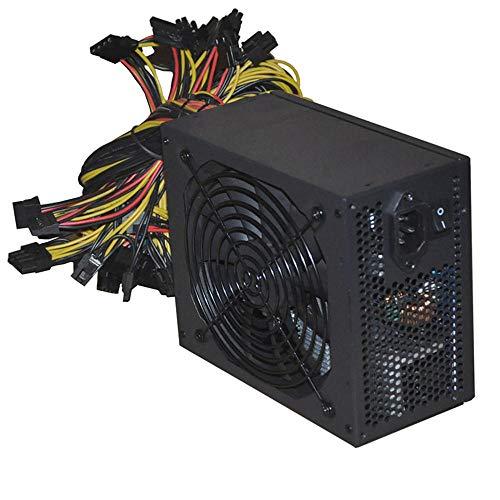 Fuente de alimentación minera Modular de Moneda de Bitcoin de 2000W, 95% de Alta eficiencia AC 180-260V ATX PSU para 8 GPU Eth RIG Ethereum Miner