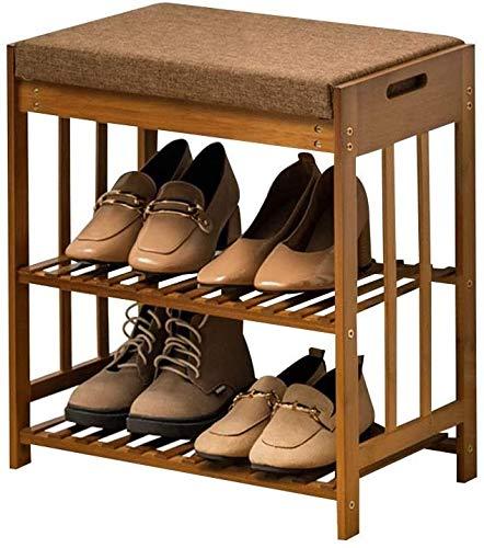ZouYongKang Shoe Rack & Shoe Bench & Sketable Cojín para Entrada, 2 Niveles Bambú Zapato Cabineta Sala de Estar Dormitorio Hallway Entrada Organizador (Size : 50cm)