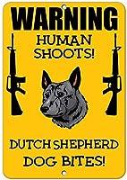 鉄の絵画、オランダの羊飼いの犬人間のシュート楽しい1685ブリキの壁サインレトロな鉄の絵画ヴィンテージメタルポスター警告プラークアート装飾バーカフェストアホームガレージ