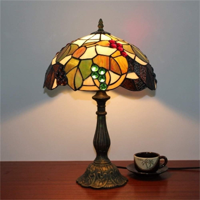 Xiuxiu Europäische Kreative Retro Traubenmuster Glasmalerei Tischlampe Schlafzimmer Nachttischlampe Restaurant Wohnzimmer Bar Dekoration Tischlampe B07JWBLDZ1     | Online Shop