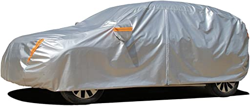 Kayme 6 Layers SUV Cover Waterproof All Weather for Automobiles, Outdoor Full Cover Rain Sun UV Protection with Zipper Cotton, Universal Fit for SUV (182