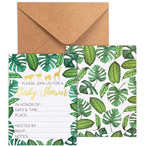 Baby Shower Invites - 36 Fill-in Baby Shower Invitations w/ Envelopes,...