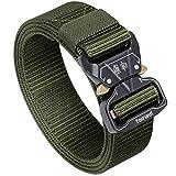 Fairwin Tactical Belt, 1.5 Inch Wide Heavy Duty Military Style Tactical Belts for men (Green, Waist 30'-36')