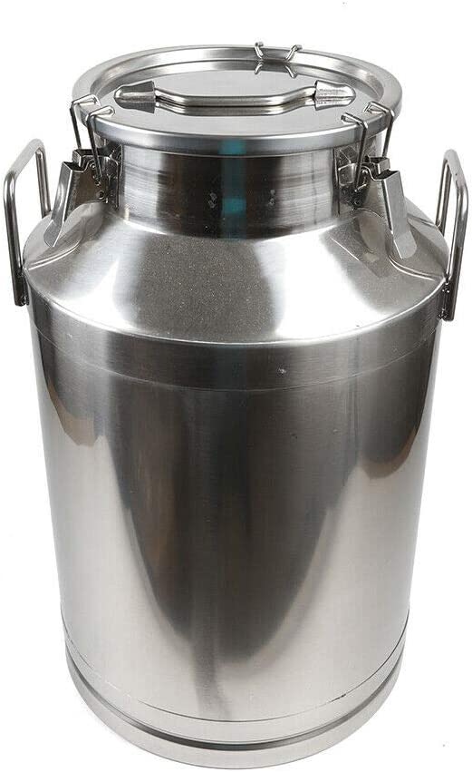 Stainless Max 73% OFF Milk Can Jug Bucket store Steel Galvanized Heavy