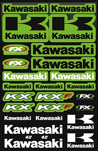 Kit Stickers Fox Stickers Kawasaki KX KXF PATROCINADOR Motocicleta Compatible para Casco Honda Cross Enduro (40)