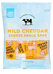 Amazon Brand - Happy Belly Mild Cheddar Cheese Snack Bars, 10 Count, 7.5 Ounce Pack