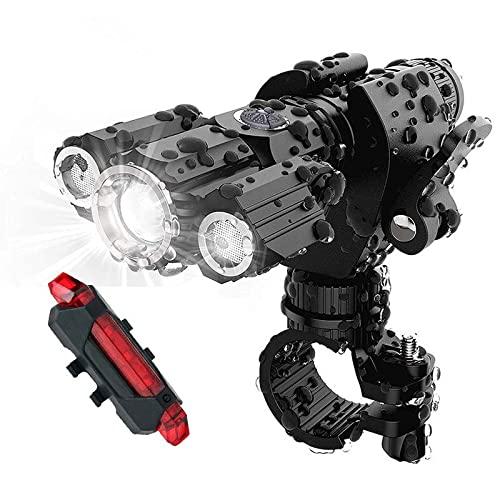 Aleación de aluminio noche montar deslumbramiento linterna accesorios bicicleta luz C Kit,negro