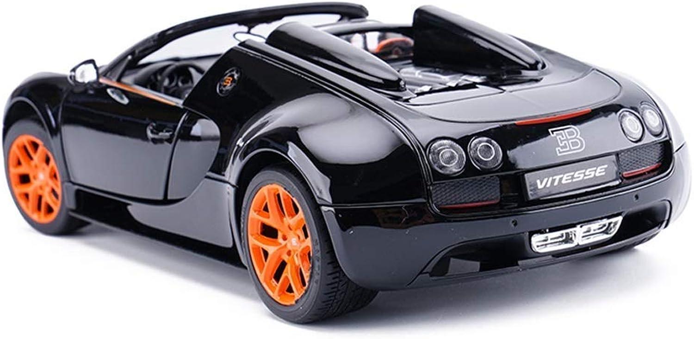 AGWa Modellbausimulation Fahrzeug Schwarz Modellauto Speed Roadster Modell 1 18 Alu-Simulation Mehrtür-Lenkradlenker Schwarz Orange