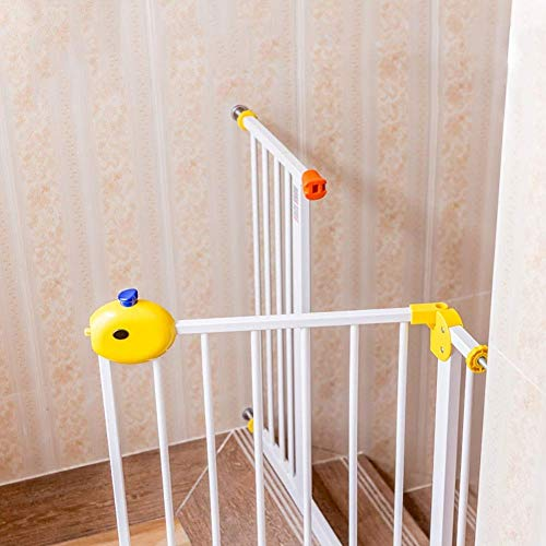 Cheapest Price! Huo Baby Safety Gates Pressure Mount Walk-Through Pet Dog Gate for Stairs Banisters/...