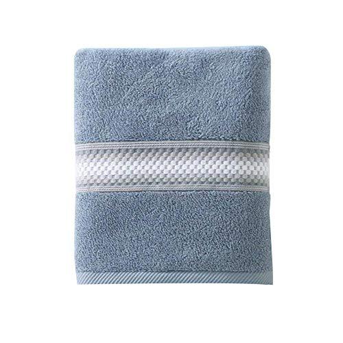 WFF Toallas de baño Toalla de baño de baño 100% algodón Toallas de baño, secas rápidas y Toallas absorbentes para Adultos/niños (Color : Blue, Size : 1 Piece)