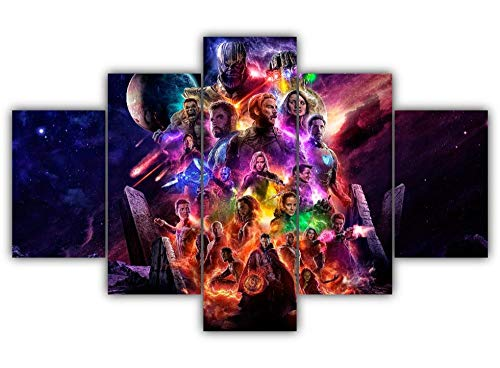45Tdfc 5 Unidades Pictures Superhéroe Movie Character Avenge Endgame Painting Home Decor Modern Wall Art Canvas HD Prints Frame Modular Poster