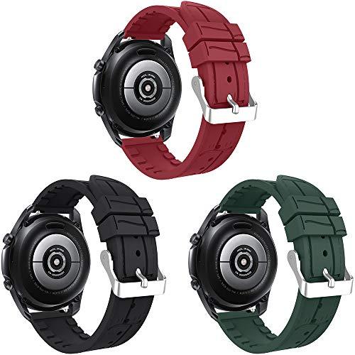 Songsier Cinturino Compatibile con Galaxy Watch 46mm Galaxy Watch 3 45mm Gear S3 Gear 2  Huawei Watch GT2 PRO 46mm Watch GT 46mm Watch GT Active Watch 2 Classic, Cinturino di Ricambio da 22 mm