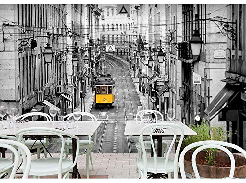 Eufjsdhf fotobehang 3D nostalgische stijl Hongaarse stijl Street Bus Bar Lounge Restaurant Tea-shop Grote muurfoto 200 x 140 cm.