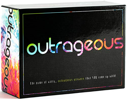 Outrageous Party Game  The Game of Witty Hilarious Answers for Kids Teens amp Adults