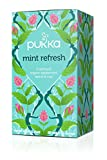 Pukka Mint Refresh, Organic Herbal Tea with Peppermint & Rose Flower (4 Pack, Total 80 Tea bags)