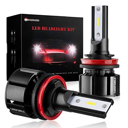 LED Headlight Bulbs Conversion Kit LED Headlight Bulbs MINI Size CARSPARKLE Q1 Series 6 Pics CSP Chips Low Beam/Fog Light Bulb 12000LM 6000K Xenon White (H11)
