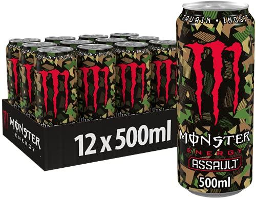 Monster Energy Assault, 12x500 ml, Einweg-Dose – die revolutionäre Geschmacksattacke