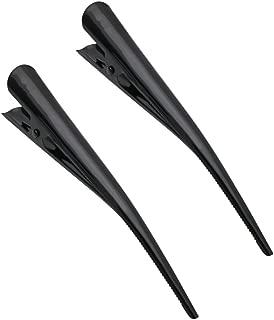 Pair of Black Enamelled Hair Beak Concorde Clip Slide 13cm (5.1) by Pritties Accessories