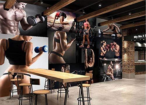 BHXIAOBAOZI behang fotobehang op maat 3D groot landschap fitness beauty fotowand achtergrond moderne decoratieve Hd kunstdruk poster foto voor woonkamer wanddecoratie (BH-1214) 380cm(W)×240cm(H)|12.46×7.87 ft