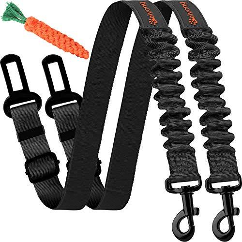 Dog Seatbelt, Ajustable Dog Car Harness Strap, Stretchy Pawsafe Pet Dog Seat Belt (2 Packs)