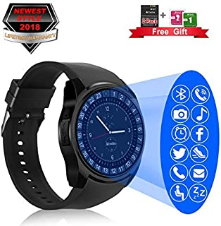 Bluetooth Smart Watch with Camera Touchscreen,Waterproof Smartwatch Unlocked Phone Watchs with SIM Card Slot, Smart Wrist Watch Compatible with Android Phone X 8 7 6 5 Plus
