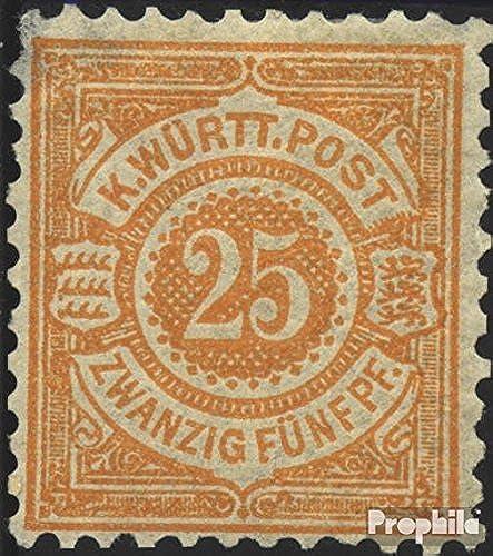 Prophila Collection Württemberg 57b geprüft 1890 Ziffern im Kreis (Briefmarken für Sammler)