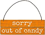 Primitives by Kathy Holzschild mit Lattenrost – Sorry Out of Candy – Halloween-Dekoration