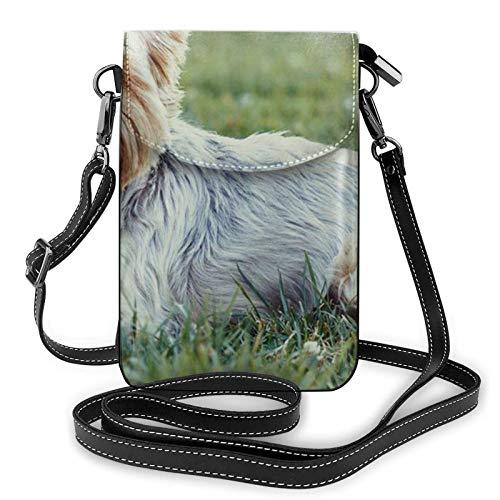 Yorkshire Terrier - Borsa a tracolla in pelle sintetica leggera, per donne