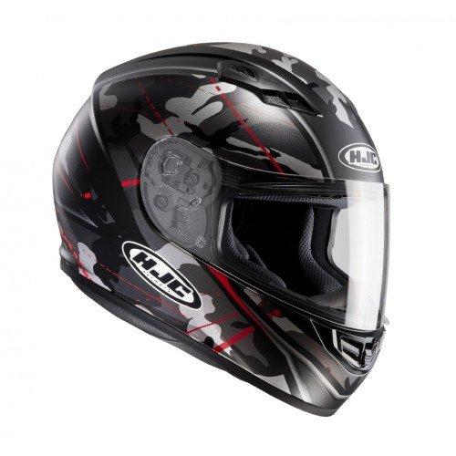 HJC Motorradhelm - CS 15 Songtan MC1SF, Noir/Rouge, Größe L