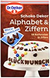 Dr. Oetker Schoko Dekor Alphabet & Ziffern Milchschokolade, 9er Pack (9 x 58 g)