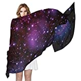 Fashion Universe Space Galaxy Print Chiffon Scarf Long Wrap Stole Shawl Wrap for Women, Multi1, 90x180?CM?