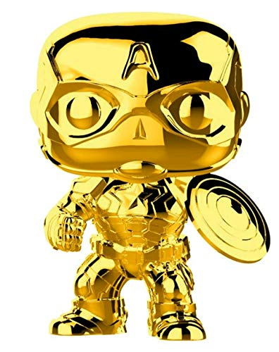Funko 33515 POP Bobble: Marvel: Marvel Studios 10: Captain America (Chrome)