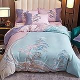 Bedclothes-Blanket Juego de sabanas Infantiles Cama 90,Caso 3D Flor estéreo Flor de Cama de Cuatro Piezas-K_La Cama de 2.0m se Establece 220 * 240 cm.