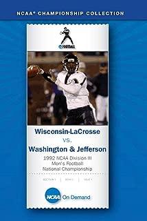 1992 NCAA r Division III Men's Football National Championship - Wisconsin-LaCrosse vs. Washington&Jefferson 2