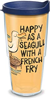 Tervis 1314914 Life is Good - Happy As A Seagull Insulated Tumbler with Wrap and Lid, 24 oz - Tritan, Clear