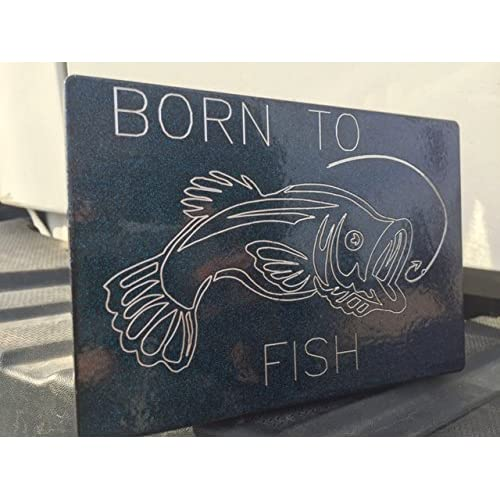 "FISH ON Billet Aluminum Trailer Hitch plug Cover 3/"" X 5/""."