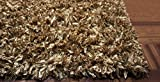 8x10 Feet Large Size Gold Two Tone Color Shag Shaggy Fluffy Fuzzy Furry Solid Plush Pile Area Rug Carpet Rug Bedroom Living Room Decorative Designer Modern Contemporary