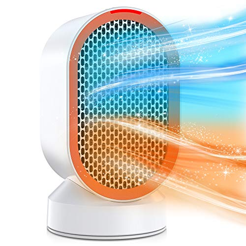 Nobebird Fan Heater, 600W Electric Heater with Fast heat, Over-heat & Tip-over Protection, Two Wind Modes